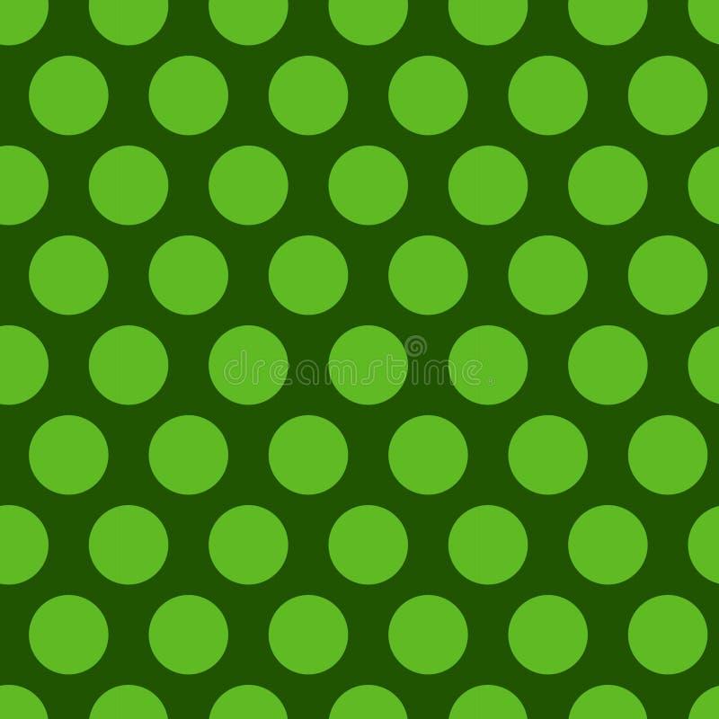 Polka dot Green seamless pattern. Endless background texture. Vector illustration. stock illustration