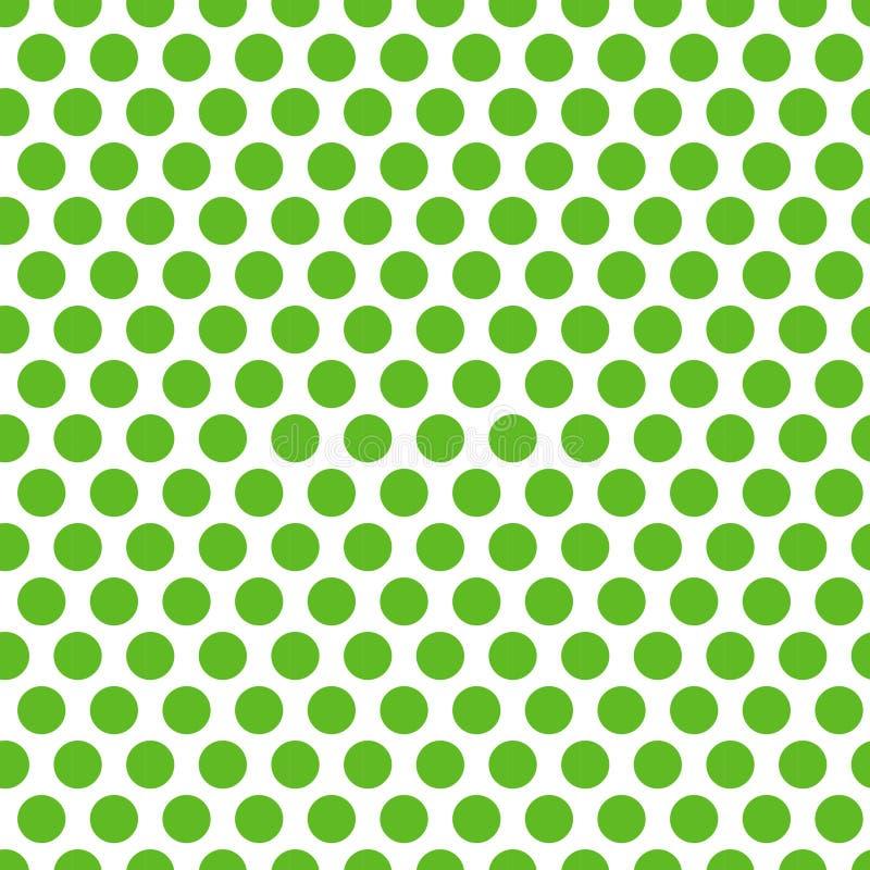 Polka dot Green seamless pattern. Endless background texture. Vector illustration. vector illustration