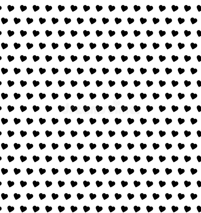 Polka dot hearts seamless pattern royalty free stock photography