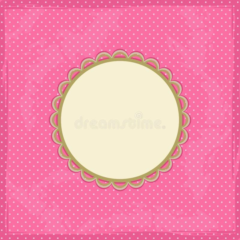 Polka Dot Invitation Card vector illustration