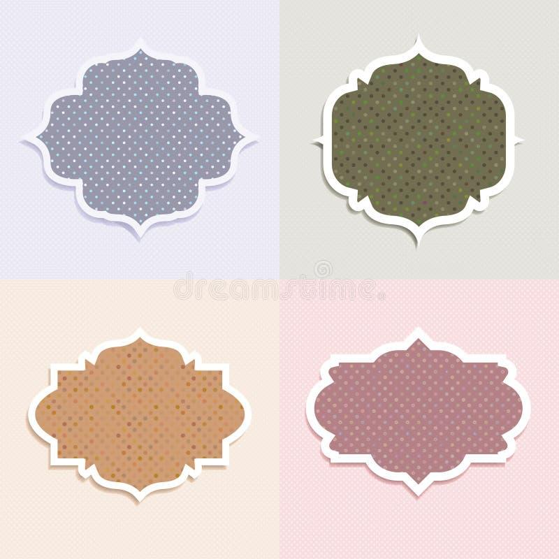 Download Polka dot labels stock illustration. Illustration of pastel - 23412700