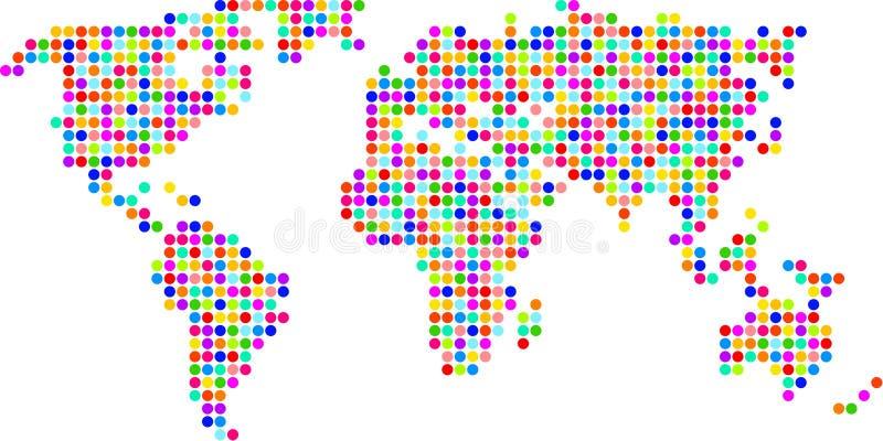 Polka dot map stock illustration