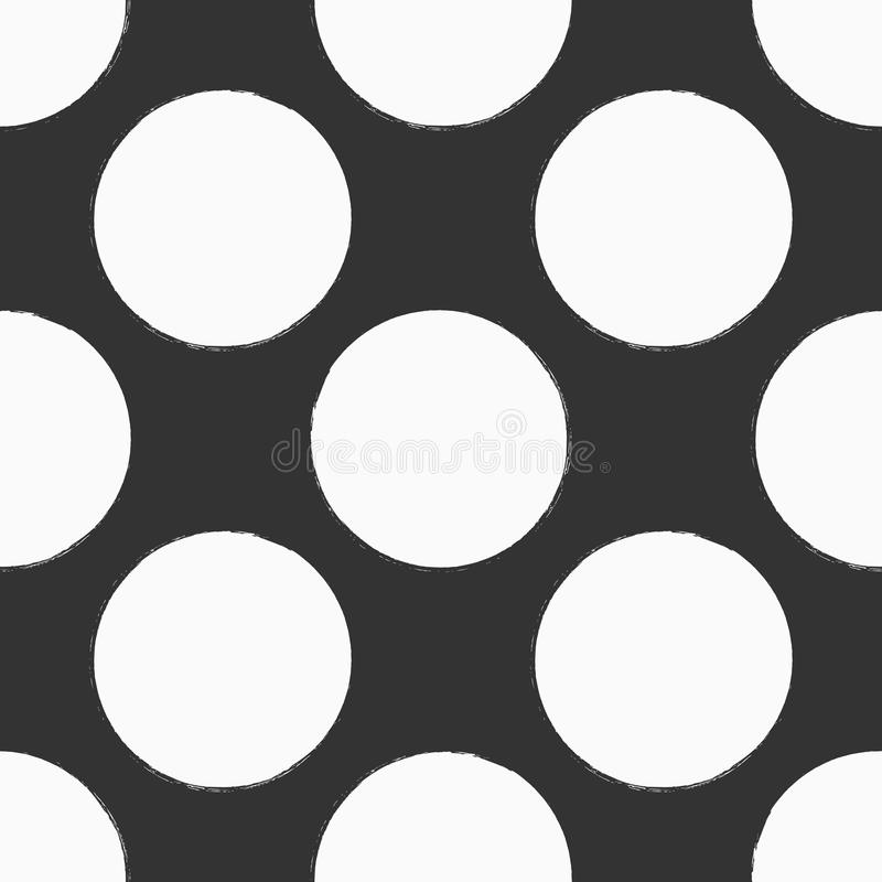 Polka dot. Painted by hand with rough brush. Seamless pattern. royalty free illustration