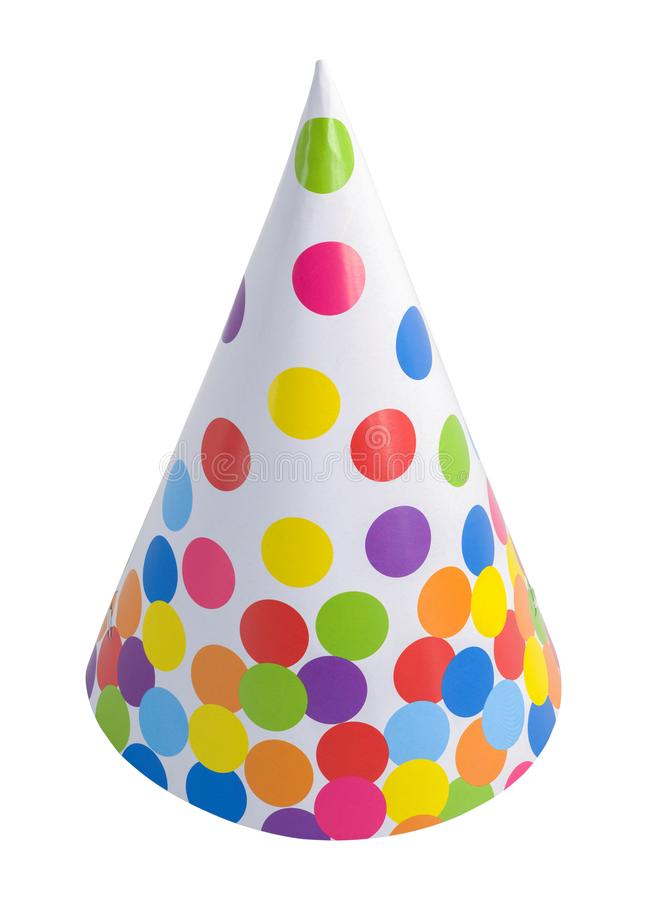 Polka Dot Party Hat stock afbeelding