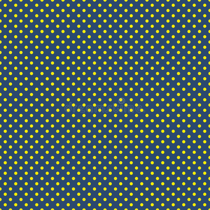 The polka dot pattern. Seamless vector illustration with round circles, dots. Yellow and blue. vector illustration