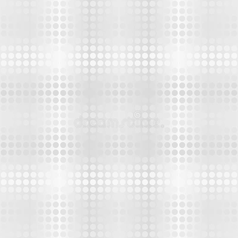 Polka dot pattern. Vector seamless glowing background stock illustration