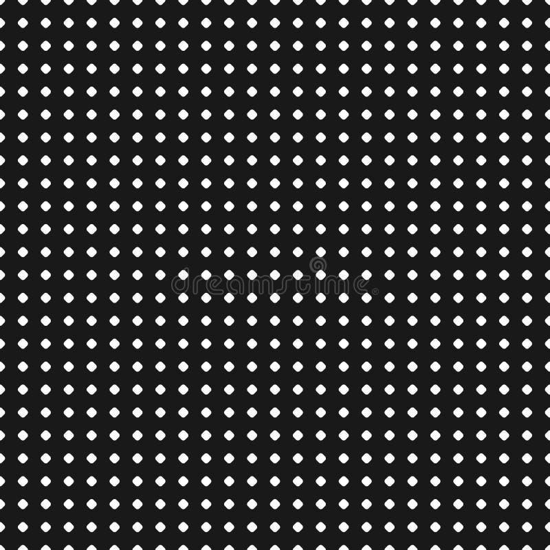 Polka dot pattern. Vector seamless texture. Black & white geomet. Polka dot pattern. Vector seamless texture. Abstract black & white geometric backdrop with tiny stock illustration