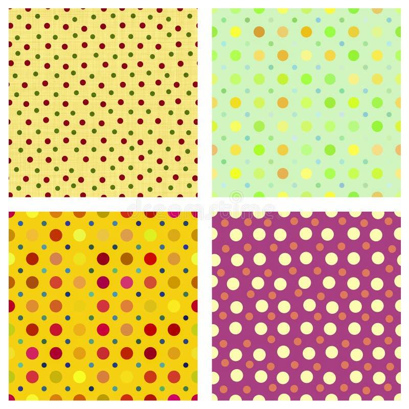 Polka dot repeat patterns royalty free stock image