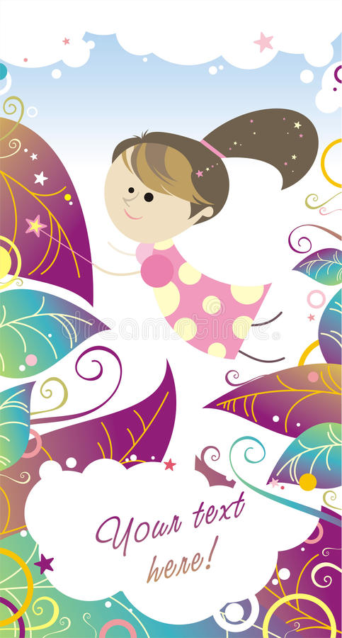 Download Polka dot's fairy girl stock illustration. Image of body - 27589916