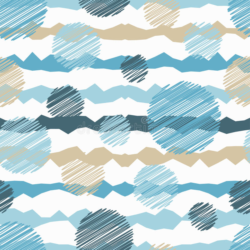 Polka dot seamless pattern. royalty free illustration