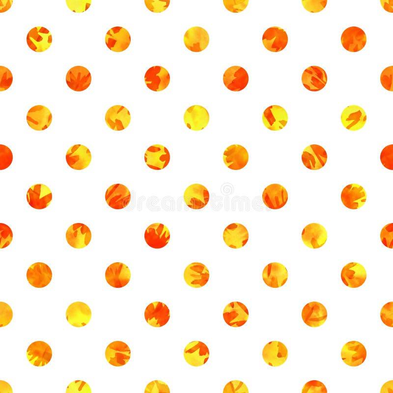 Polka Dot Seamless Texture Brandcirkels op witte achtergrond worden geïsoleerd die vector illustratie