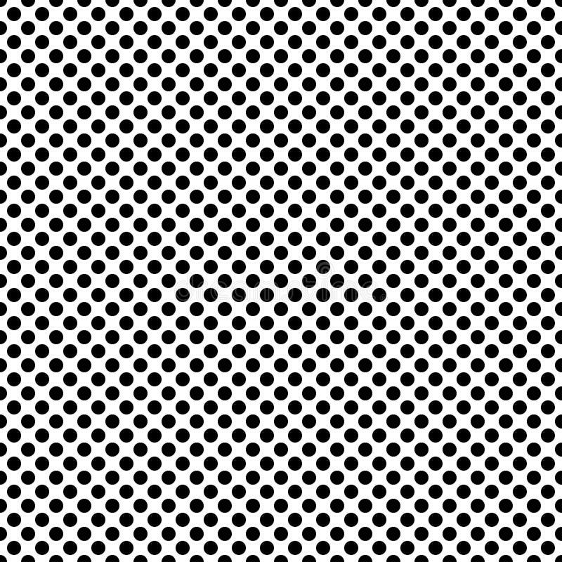 Polka dot siamless pattern. royalty free illustration