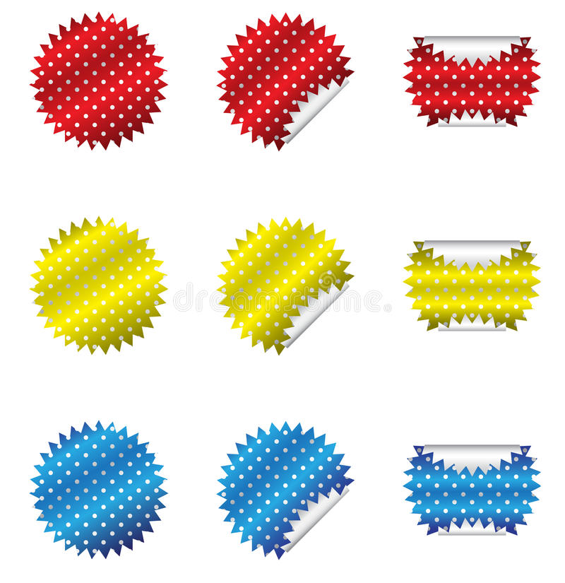 Download Polka Dot Stickers stock vector. Image of peel, circle - 26863112