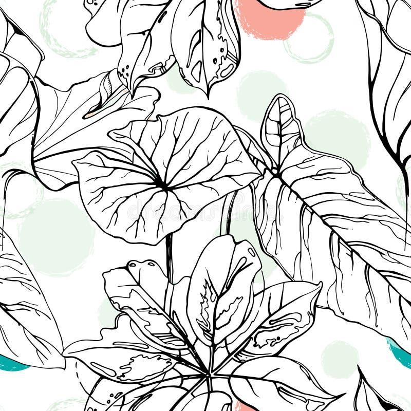 Polka Dot Tropic stock illustration