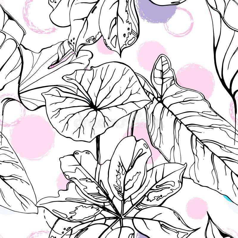 Polka Dot Tropic illustrazione vettoriale