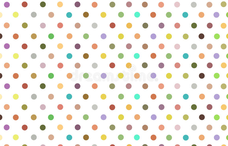 Polka dot with variety color pastel background vector illustration