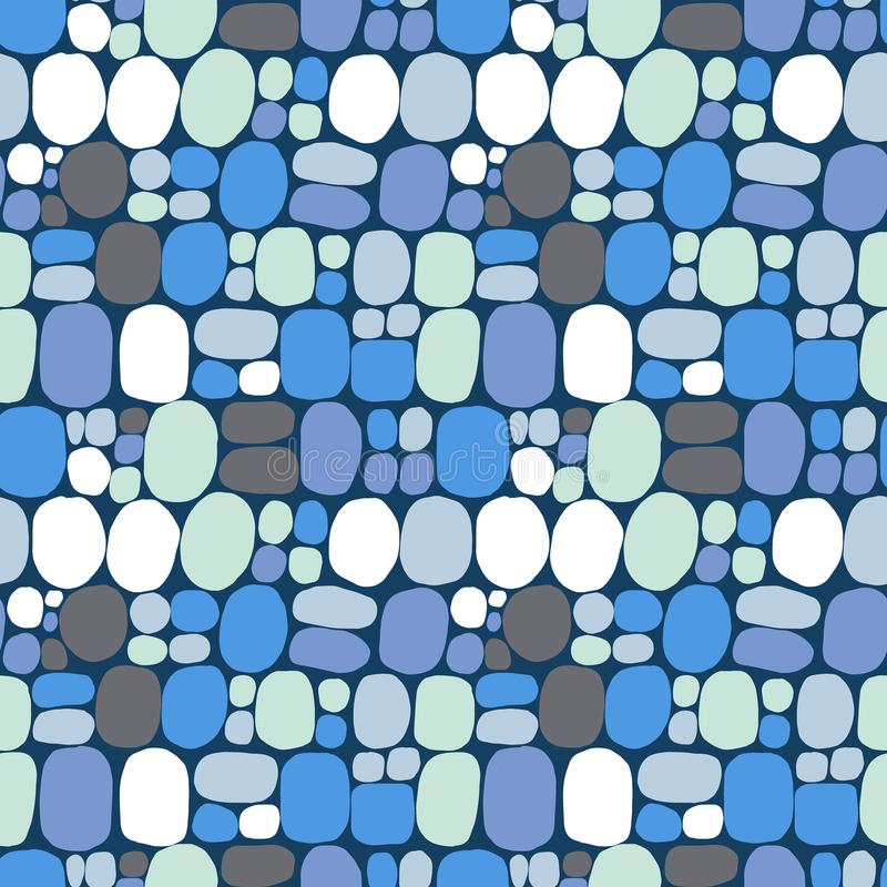Polka dot vector background. Seamless vector pattern royalty free illustration