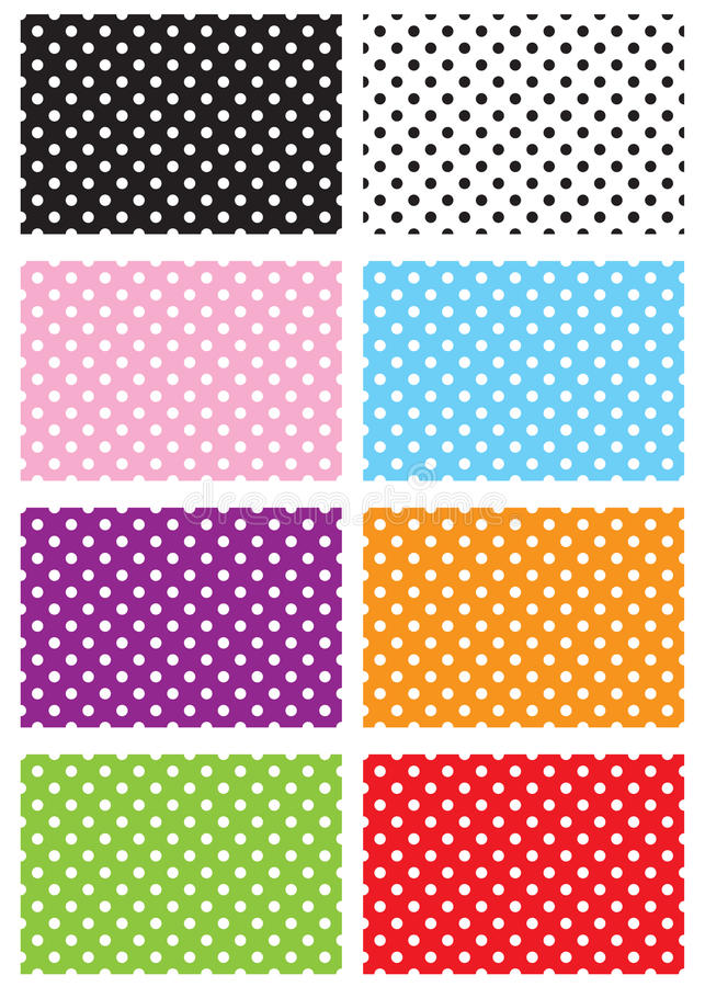 Polka Dots. Paper with polka dots background stock illustration
