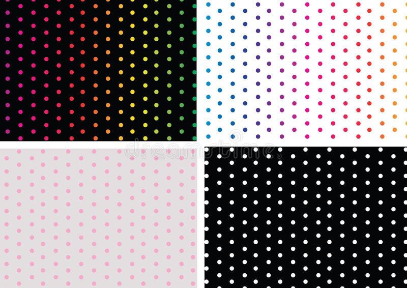 Download Polka dots stock vector. Illustration of black, stripes - 19846565