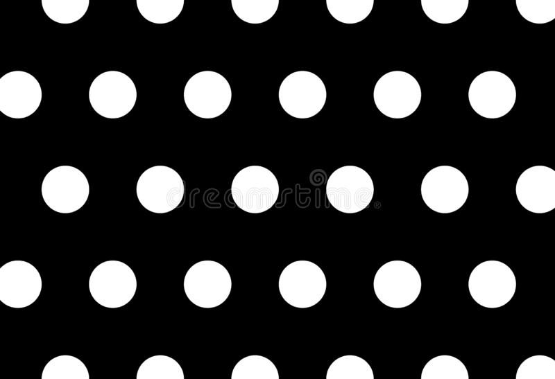 Polka dots background stock illustration
