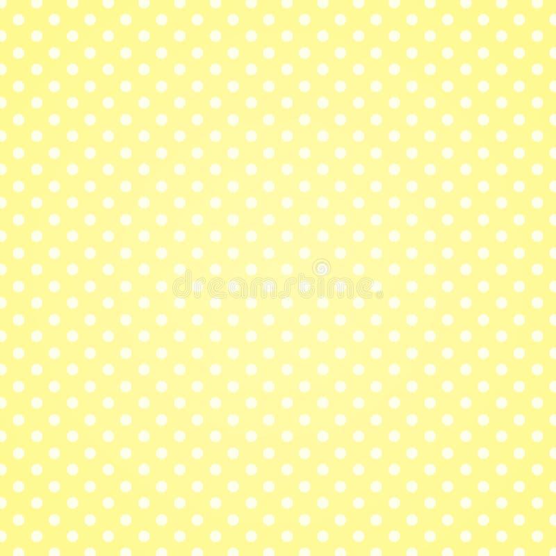 Polka Dots Background della vaniglia illustrazione di stock