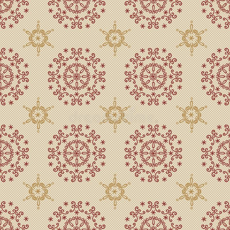 Polka dots background decorative floral seamless pattern - Fabric textile collections vector illustration