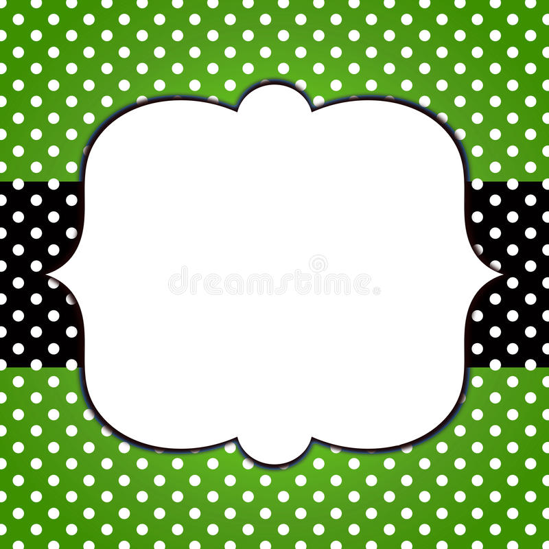 Polka Dots Banner Grunge Frame royaltyfri illustrationer