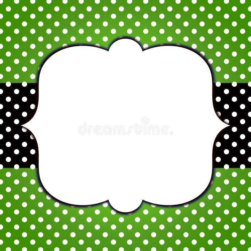 Polka Dots Banner Grunge Frame royalty free illustration