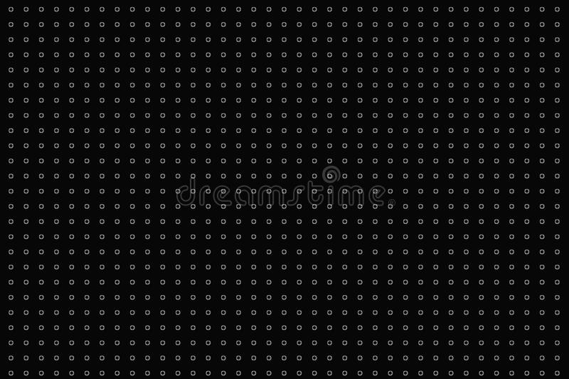 Polka dots digital creative abstract texture pattern on black background. Design element. royalty free illustration