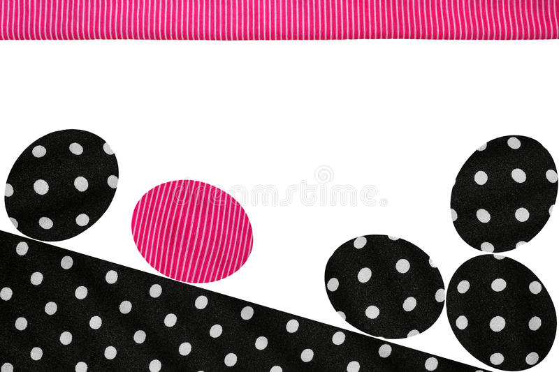 Polka Dots Easter Eggs royalty free stock photography