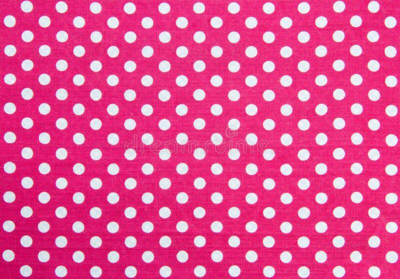 Polka Dots Fabric royalty-vrije stock afbeeldingen