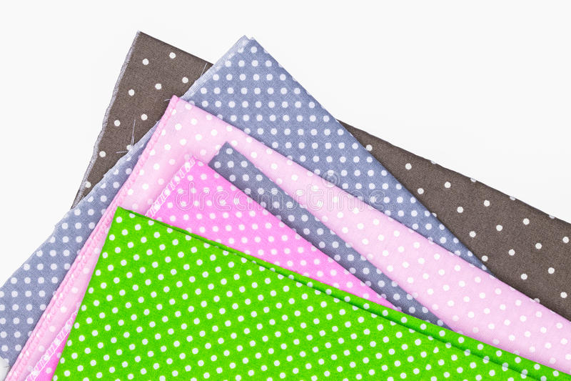 Polka Dots Fabric fotografie stock libere da diritti