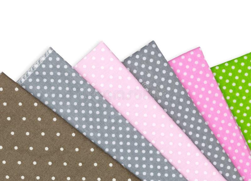 Polka Dots fabric stock image