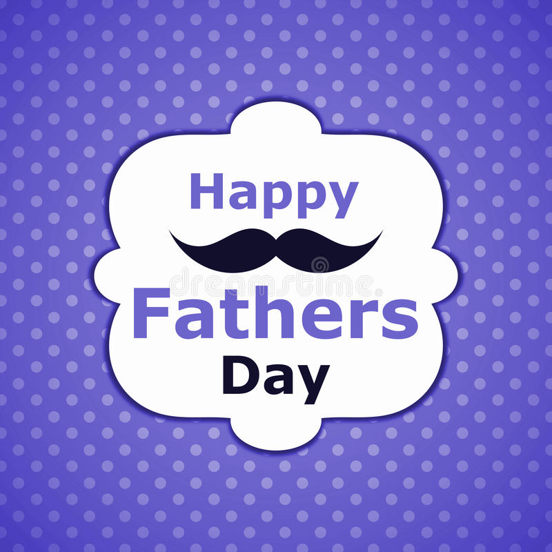 Download Polka Dots Fathers Day Wiskers Card Stock Illustration - Image: 92234478