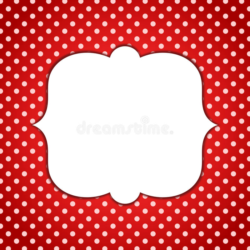 Polka Dots Invitation Card van het Minnie de Rode Kader royalty-vrije illustratie