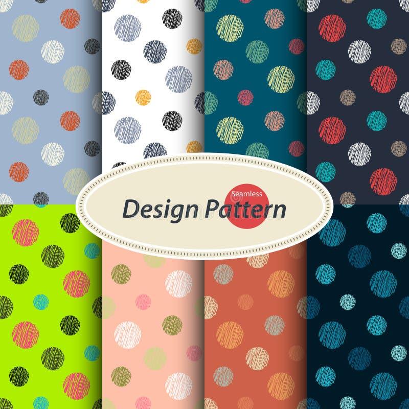 Polka dots pattern vector illustration