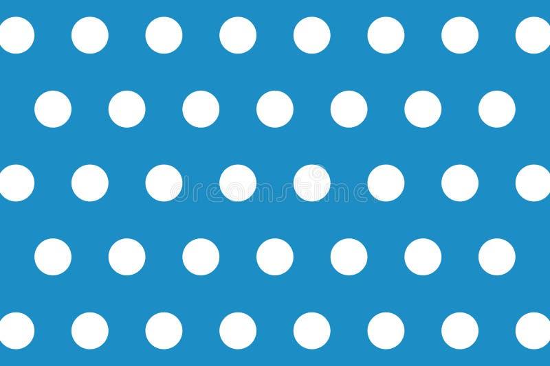 Polka Dots Seamless Pattern Background Het ontwerp van de illustratie stock afbeeldingen