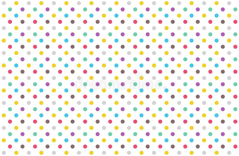 Polka dots seamless pattern background. Illustration design. Circle, colors, small, fabric, plaid, flannel, new, art, print, abstract, concept, simple vector illustration