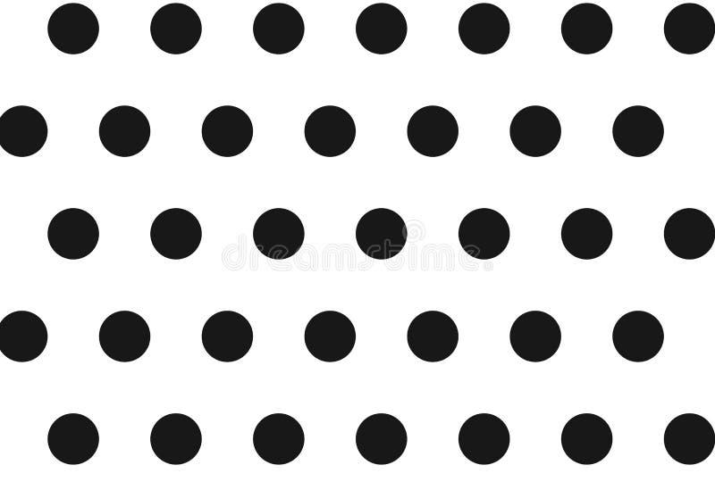 Polka dots seamless pattern background. Illustration design. Fabric, new, print, retro, black, vintage, silhouette, clothing, dress, shirt, skirt, plaid royalty free stock photo