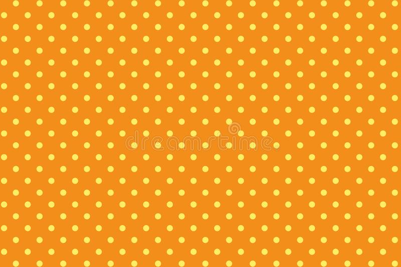 Polka dots seamless pattern background. Illustration design. Fabric, paper, circle, small, orange, halloween, art, abstract, new, print, cage, repeat, creative vector illustration