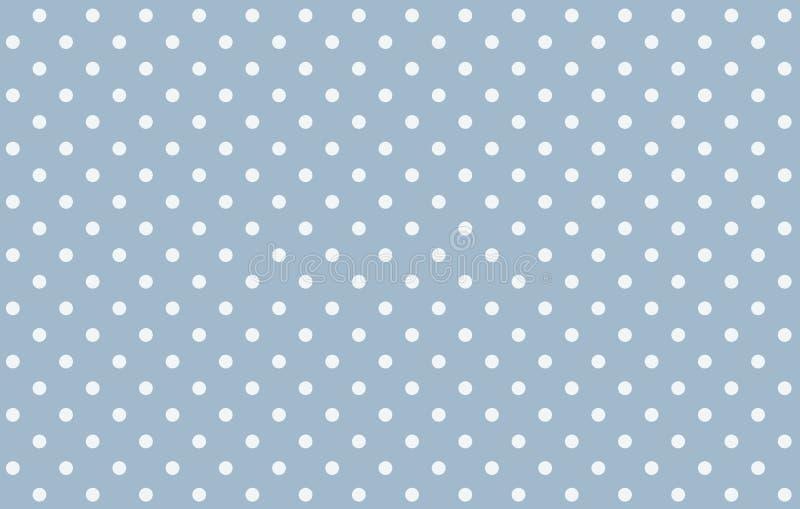 Polka dots seamless pattern background. Polka dots pattern seamless background blue plaid fabric simple modern wallpaper backdrop new print concept small vintage stock illustration