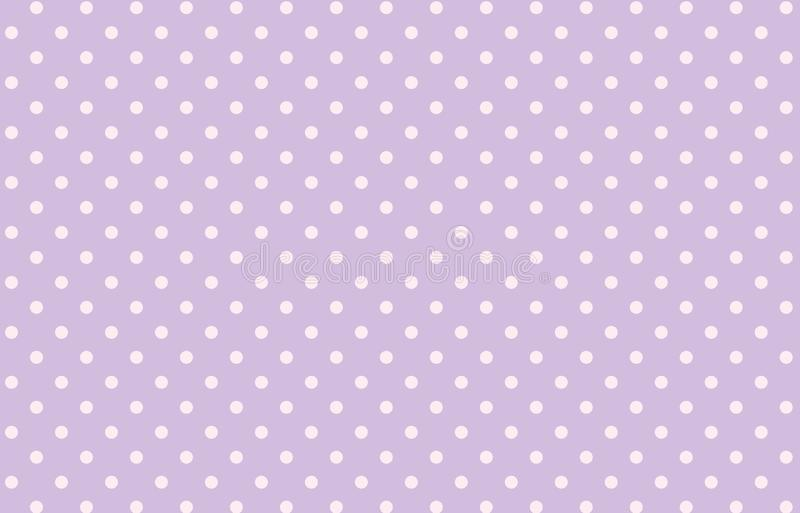 Polka dots seamless pattern background. Purple, violet, vintage, small, spot, circle, design, graphic, art, abstract, creating, concept, fabric, clothing stock illustration
