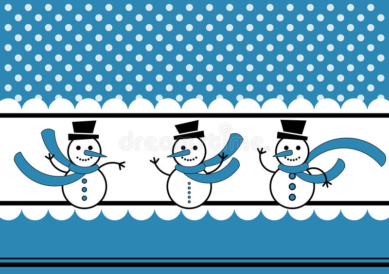 Download Polka Dots Snow And Snowmen Winter Card Stock Photos - Image: 27821583