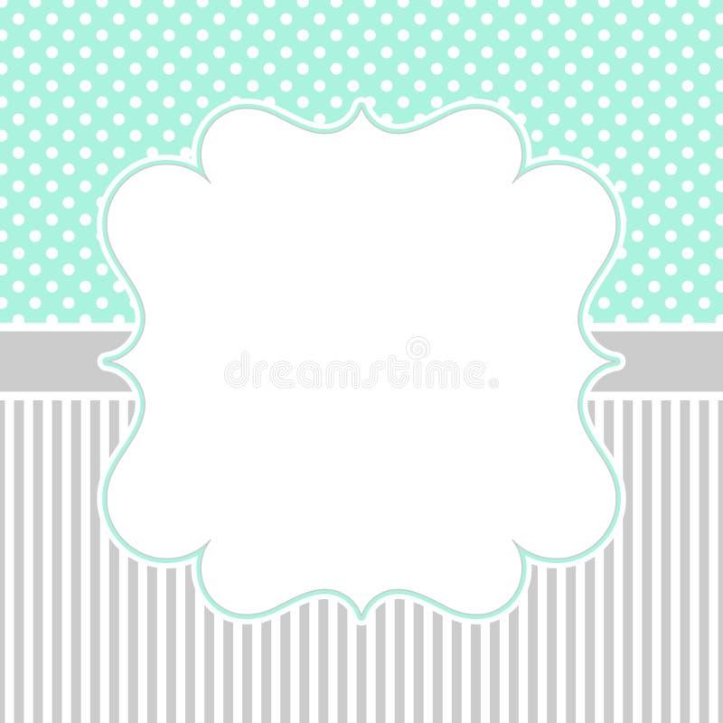 Polka dots and stripes border frame stock photos