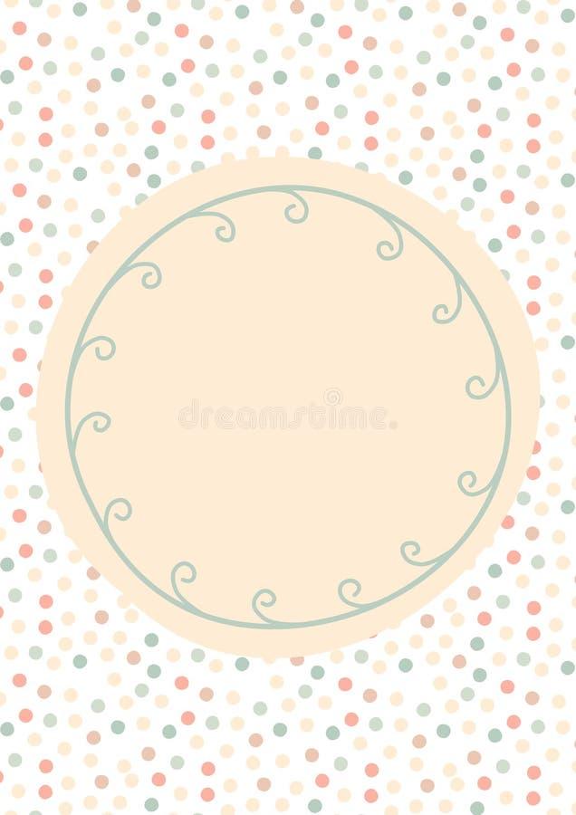 Polka dots and vine greeting card royalty free stock photography