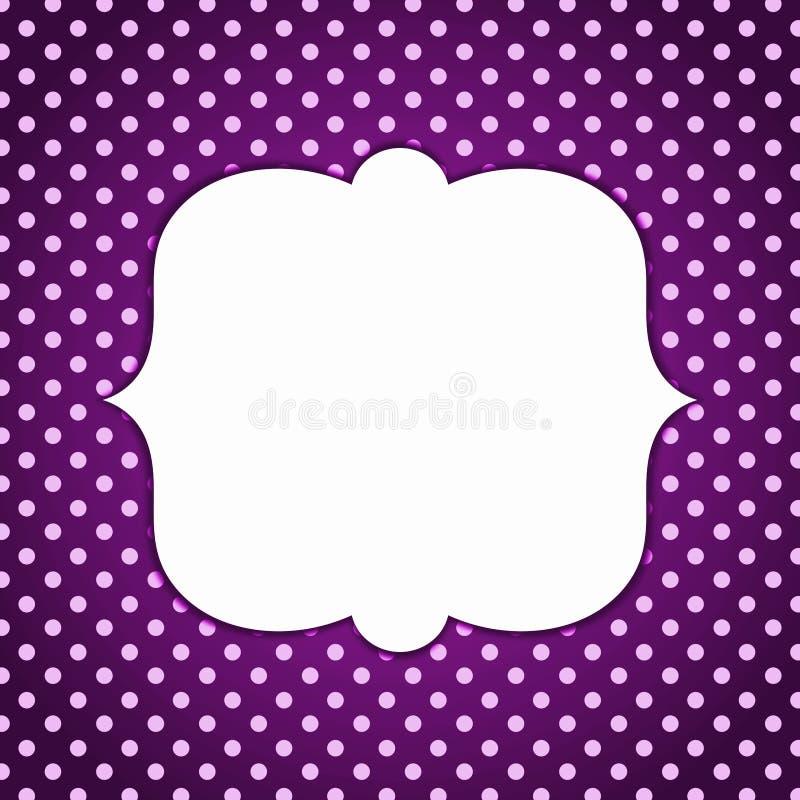 Polka dots vintage dark border frame royalty free illustration