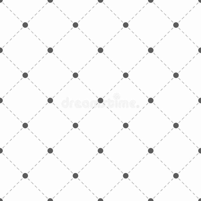 Polka dotted texture with rhombus. Geometric seamless pattern. Dots with dashed lines. Vector royalty free illustration