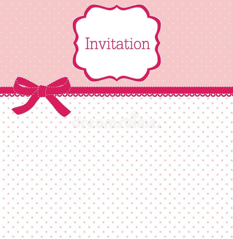 polka för bowdesignprick vektor illustrationer