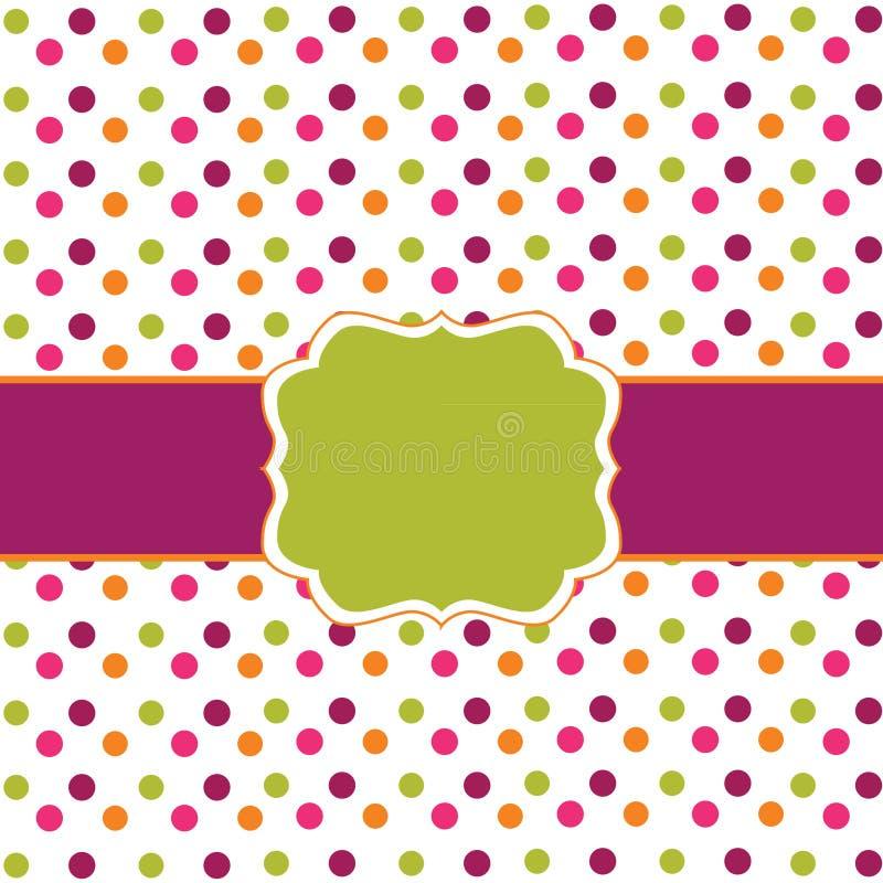 polka för designprickram vektor illustrationer