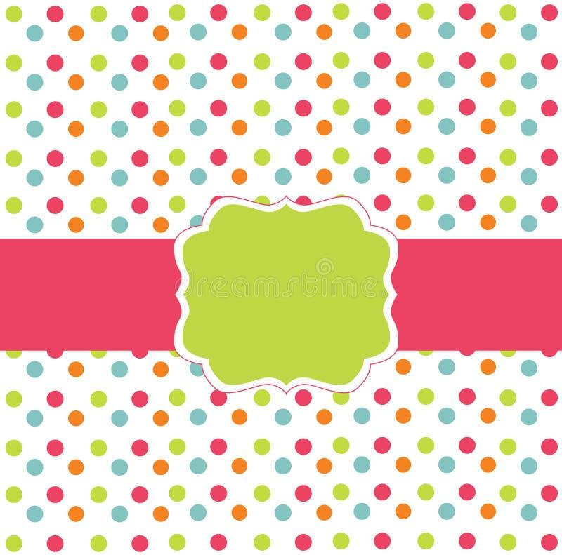 polka för prick för kortdesign vektor illustrationer